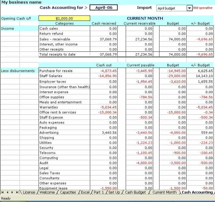 Accounting Excel Templates Excel Templates - Excel accounting template