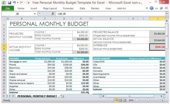 9 Excel Budget Worksheet Template Excel Templates – Budget Worksheet Excel