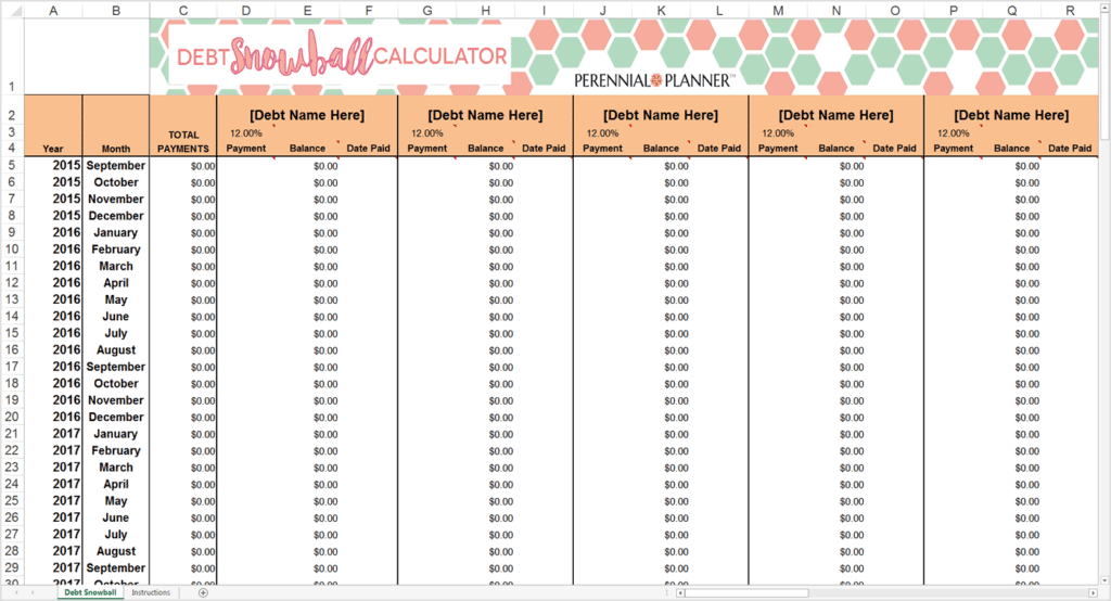 9 Debt Snowball Excel Templates Excel Templates – Snowball Debt Worksheet