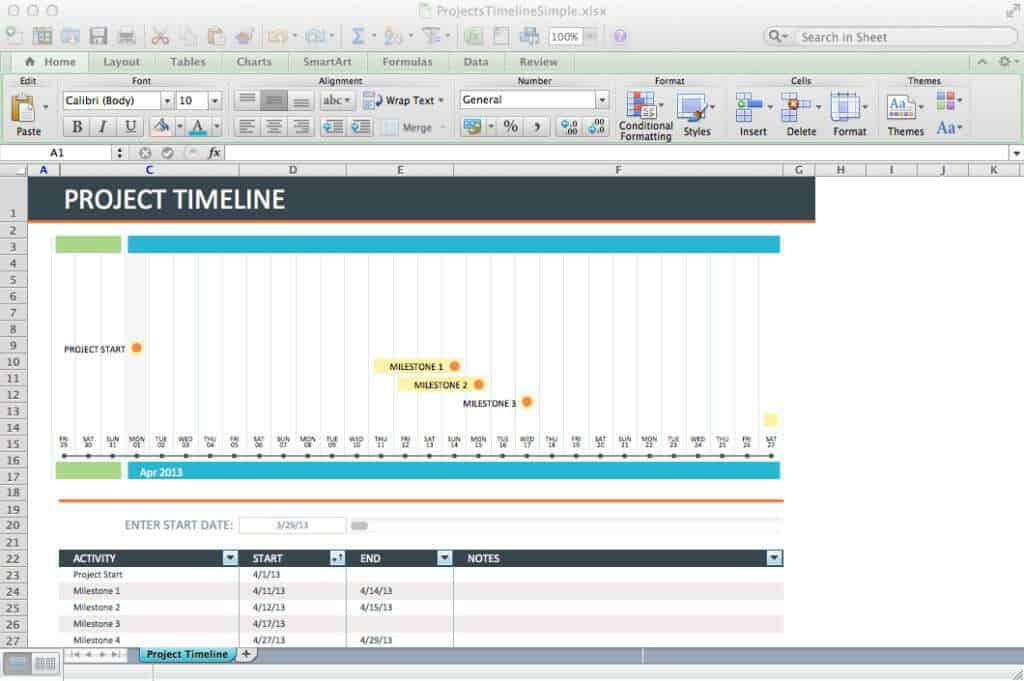 Project Timeline Template Powerpoint Project Timeline Planning