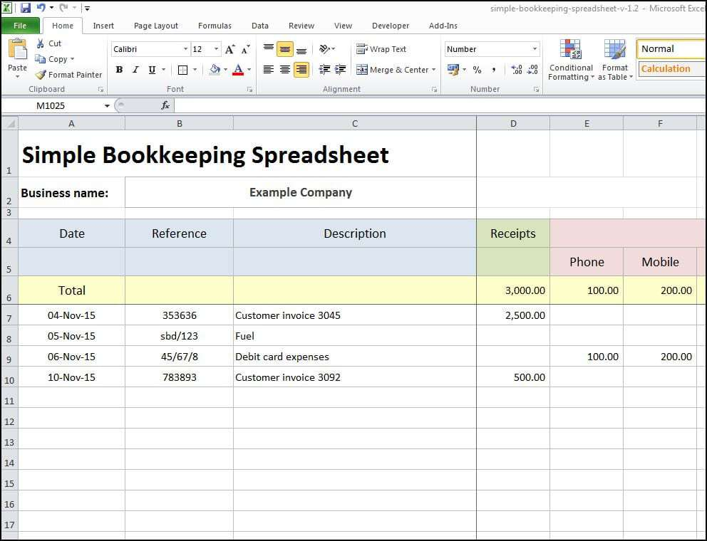 Bookkeeping Templates | 8 Excel Bookkeeping Templates Excel Templates