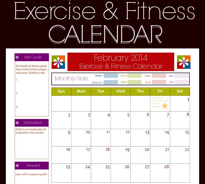 fitness calendar template 222