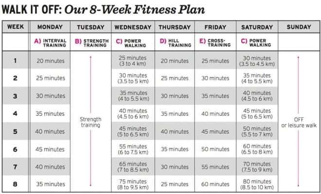 fitness calendar template 555