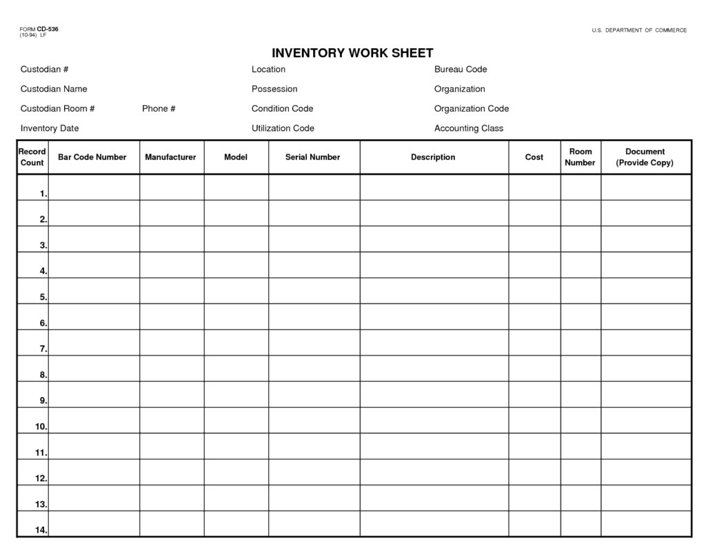 Excel Spreadsheet Templates For Inventory Tracking