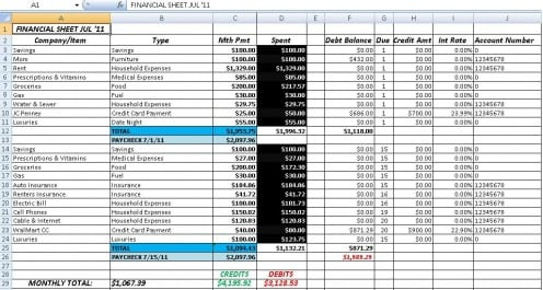 accounting excel template 2364