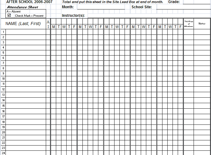7+ Attendance Excel Templates