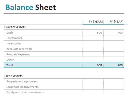 balance sheet format 555