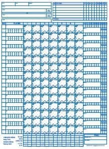 photo about Printable Baseball Scoresheet known as 9+ Baseball Rating Sheet Templates - Excel Templates