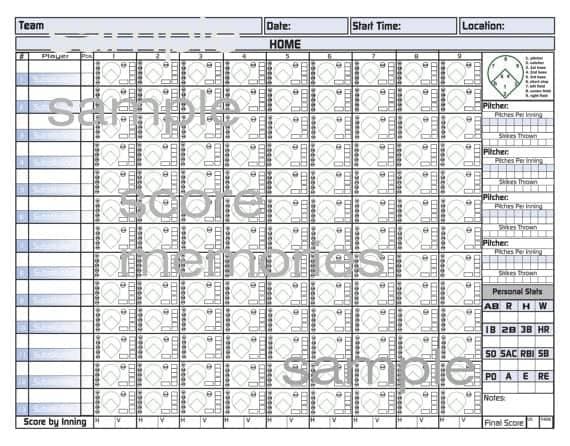 8  printable baseball scorecard templates