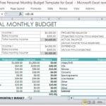 9+ Excel Budget Worksheet Template
