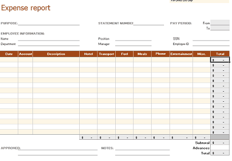 business expenser tracker template 33