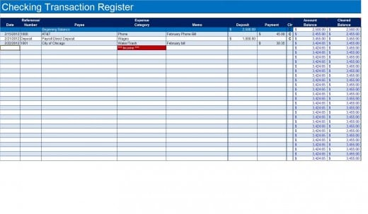checkbook register template 999