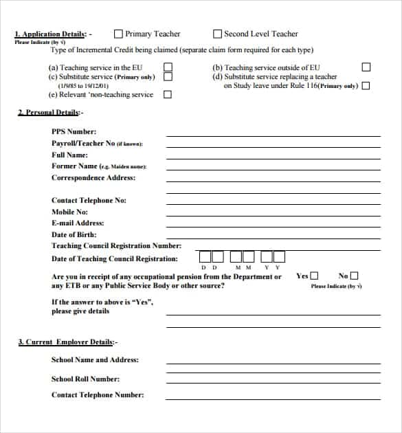 credit application template 62145
