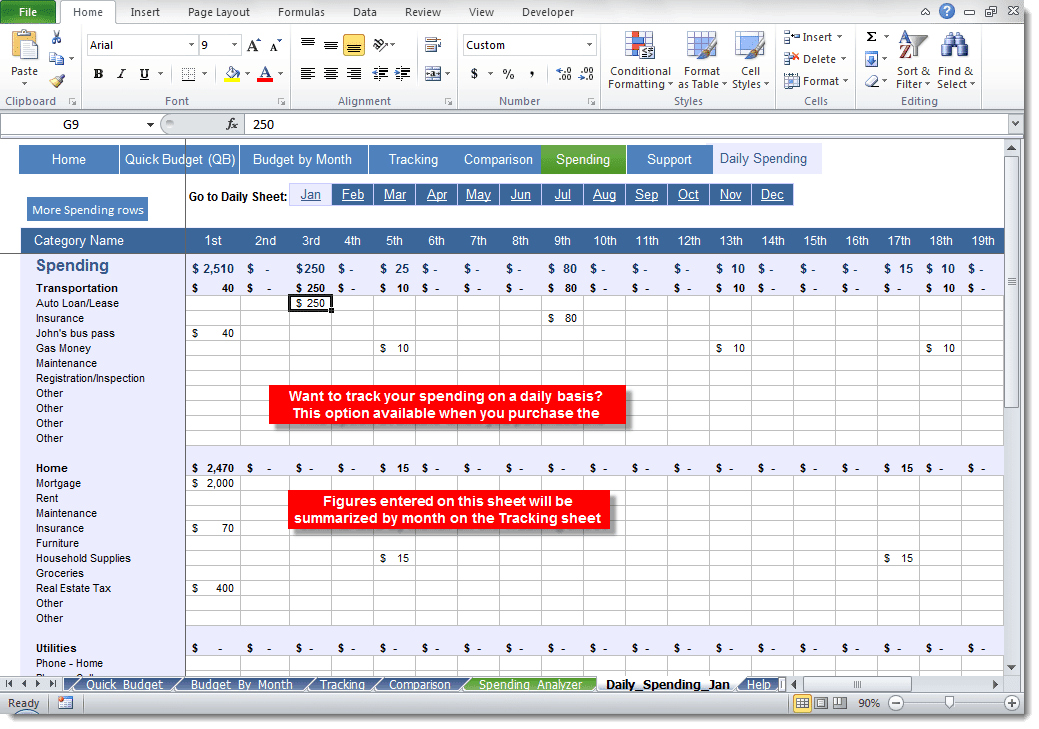 daily budget spread sheet for students archives excel templates
