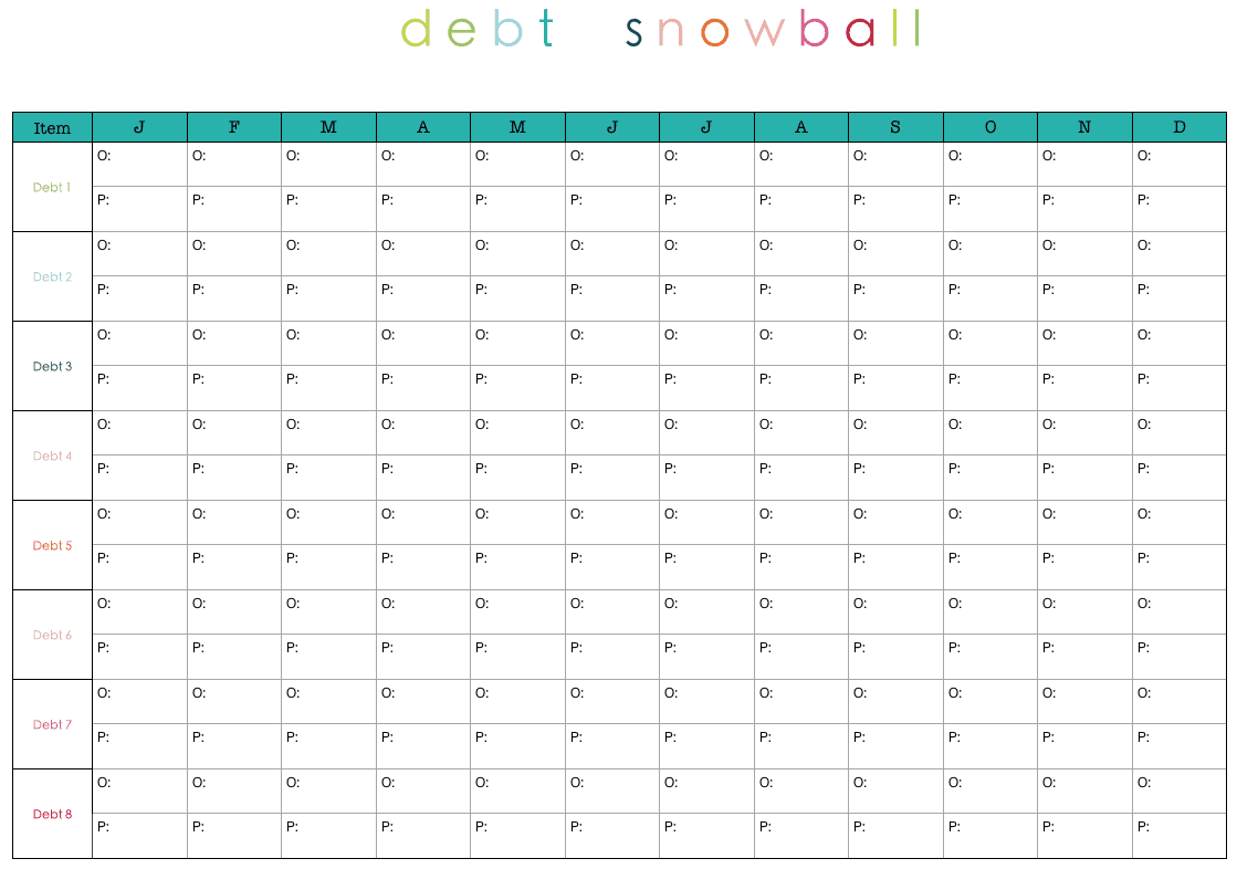 debt snow ball 9454