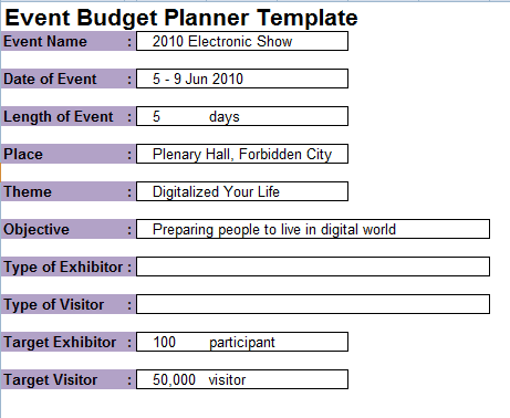 how to plan an event template - 7 event planning budget templates excel templates