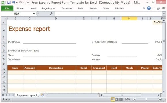 expense report 941