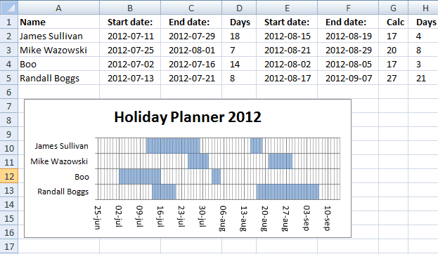 8 holiday planner templates excel templates. Black Bedroom Furniture Sets. Home Design Ideas