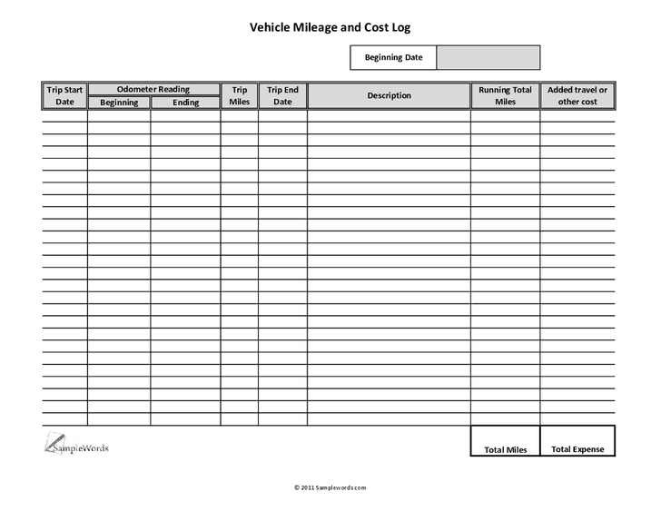 playground maintenance repair log auto expense record book vehicle