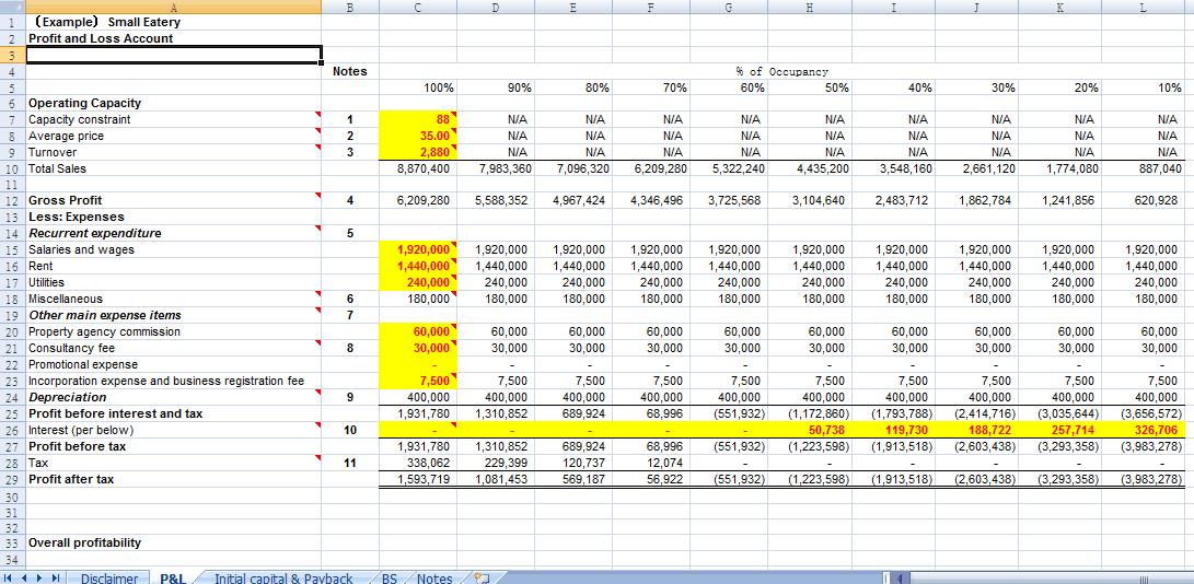 spreadsheet template 22