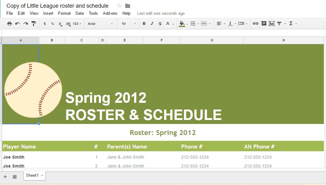 spreadsheet template 666
