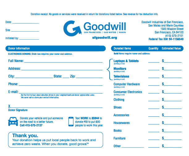 tax donation receipt Template 444