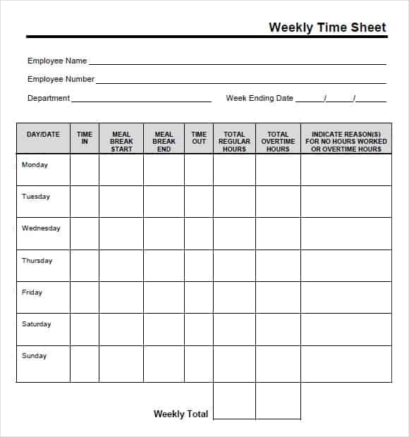 time card template 555