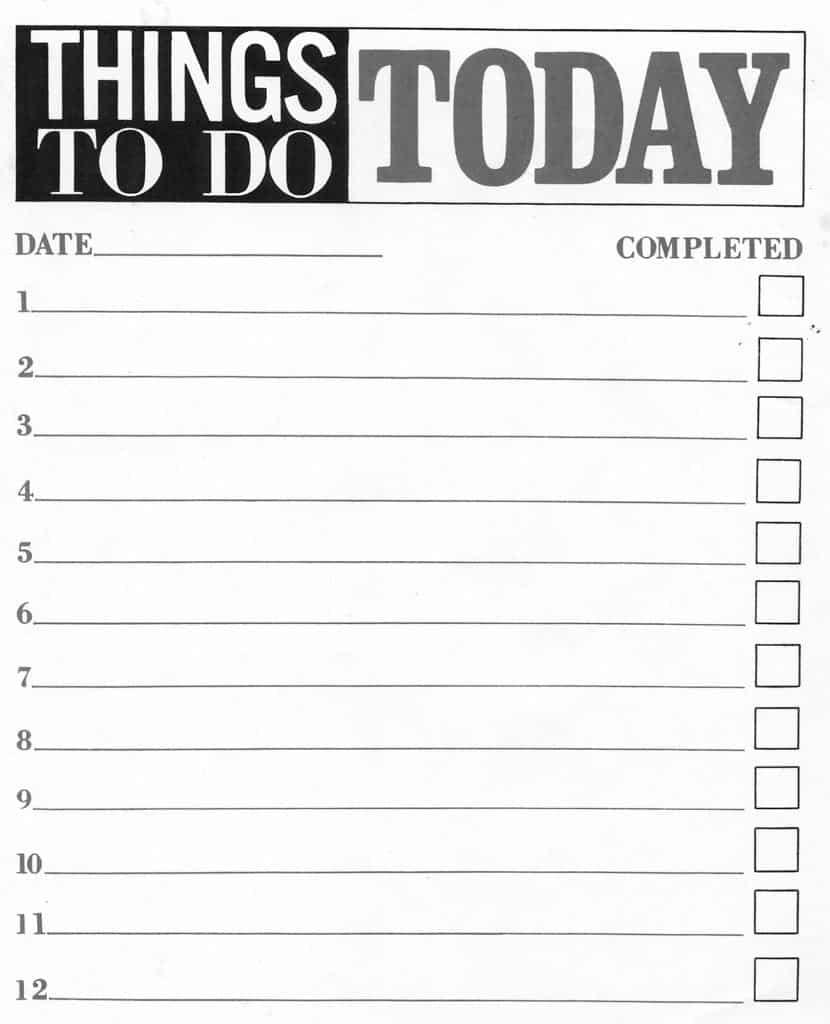 10  printable to do list templates
