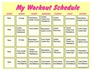 workout template 333